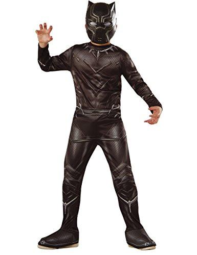 Kostüm Black Panther für Kinder 128/140 (8-10 (Kinder Kostüme Panther Black Für)