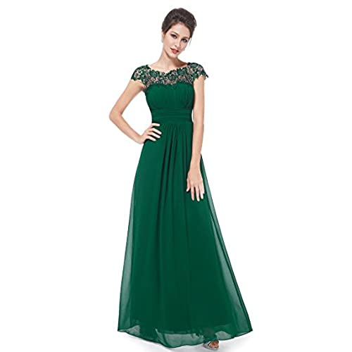 Ever Pretty Womens Cap Sleeve Formal Wedding Guest Dress 8 UK Dark Green  EP09993DG04