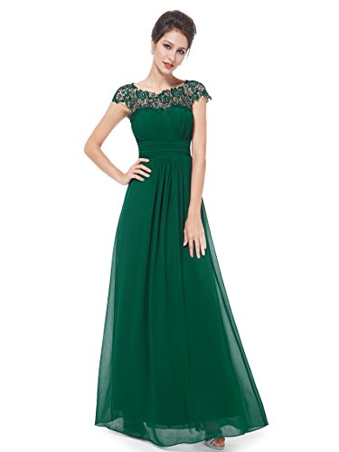 Ever Pretty Damen Lange Elegantes Abendkleid Festkleider 36 Dunkelgrün