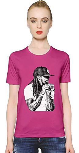 Lil Wayne YMCMB Illustration YMCMB Illustration Women T-Shirt Girl Ladies Stylish Fashion Fit Custom Apparel by X-Large - Rosa Lil Shirt Wayne