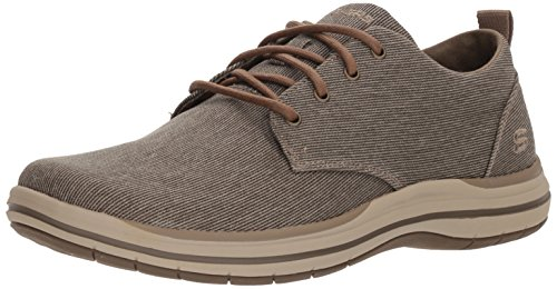 Skechers Elson Moten Mens Casual Schnürschuhe 9 UK/ 43 EU Braun