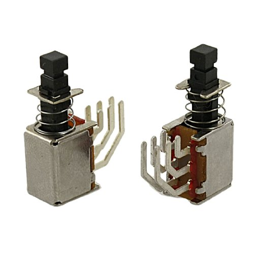 5PCS X 6Pin DPDT Momentary PCB Push Button Switch Non Lock 2NO 2NC Dpdt Push-button