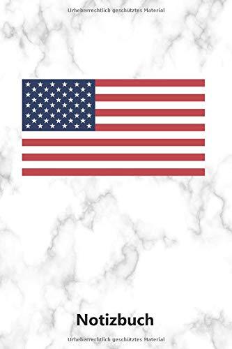 Notizbuch: Amerikanische Flagge für Amerika Fans (A5 | liniert | 100 Seiten) (Flagge Notebook Amerikanische)
