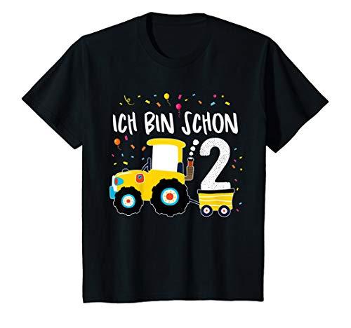 Kinder Traktor Shirt 2 Jahre Geburtstag Jungen Mädchen Trecker T-Shirt (Traktor Geburtstag Shirt 2.)