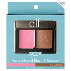 e.l.f. e. l. f. Aqua Beauty Bronzed Violet Aqua-Infused Blush & Bronzer, 0.29 oz