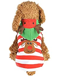 Ropa para Mascotas,Gusspower Ropa de Abrigo de Alce a Rayas Chaqueta Invierno Suéter Sudadera con Capucha cálido cómodo Deportiva Traje para Mascotas Gato Perro