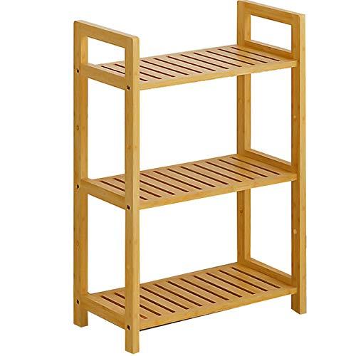 WSXX Lagerregal, Einfaches Wohnzimmer-Regal, Ablageboden Badezimmer-Badablage, Bodenregal (Stapelbar Spielzeug Bins)