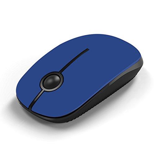 Jelly Comb Ratón inalámbrico de 2,4 GHz con receptor nano para el ordenador portátil / Macbook / tableta, preciso y silencioso (azul)
