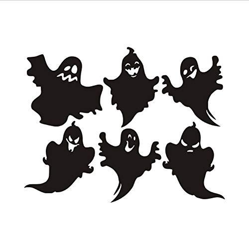 xmydeshoop Vielzahl Halloween Geist DIY Wandaufkleber Für Kinderzimmer, Hallowmas Pvctransfer Vinyl Home Decoration Aufkleber (Halloween Kontakt Geist)