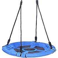 Yorbay S44Nest columpio balancín para jardín Plato Infantil redondo Balancín Ourdoor Soporta hasta 100kg, Azul, diámetro 60cm