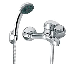 Armatur für die Badewanne Wannenarmatur mit Handbrause und ... | {Badewannenarmaturen mit brause 0}
