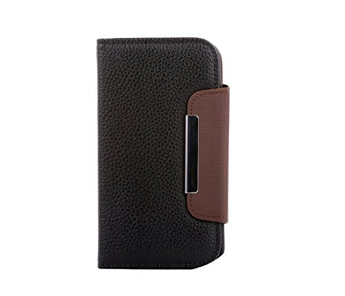 Gioiabazar Leather Flip Case Cover Pouch Table Talk Wallet For HTC Desire 816G Black