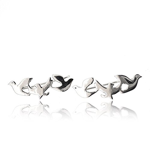 Sovats Damen Drei Vogel-Ohrringe