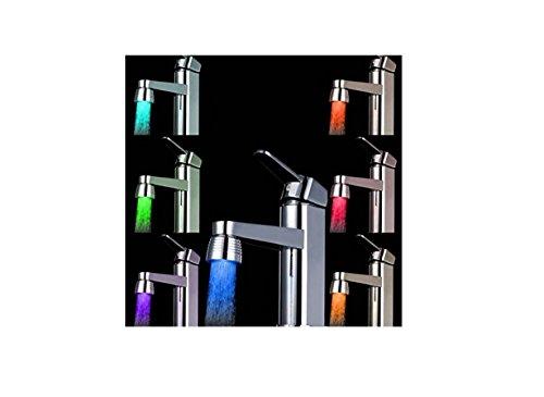 Foopp creative LED rubinetto luce temperatura camaleonte cambia colore rubinetto testa della lampada 7colori