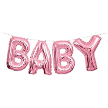 Foil Pink Baby Letter Balloon Banner Kits