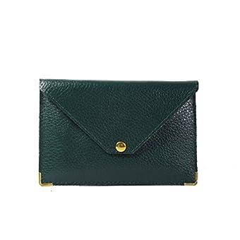 Lilosac – Reisebrieftasche – Ausweissmappe – Ausweishulle – Ausweisetui - KFZ Schutzhülle – Aus echtem Leder – Papieren – Geld – Kreditkarten - (Grün)
