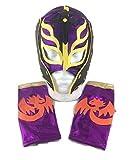 UK Halloween Carnevale Cosplay Bambini Viola Son Of Demonio Rey Mysterio Wrestling Cosplay per Tutta la Testa Maschera di Halloween - Taglia Universale Wwe Costume Travestimento Vestito