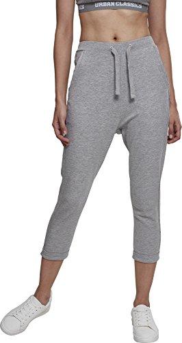 Urban Classics Damen Ladies Open Edge Terry Turn Up Pants Sporthose, Grau, 40 (Herstellergröße: L) -
