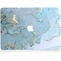 AQYLQ Funda Dura para MacBook Air 13 Pulgadas (A1369 / A1466) - Ultra Delgado Carcasa Rígida Protector de Plástico Acabado Mate Cubierta, DL 41 -Mármol Azul