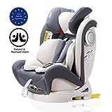 LETTAS Baby Kindersitz Autokindersitz Gruppe 0+1/2/3 (0-36 kg/0-12 Year) mit Protektoren seitliche Isofix Top Tether ECE R44/04