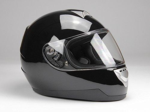 Integralhelm Motorradhelm Helm BNO F500 erschiedene Farben (XS,S,M,L,XL,XXL) (XXL, Schwarz glänzend) - 2