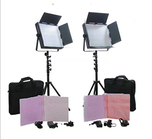 GOWE mit Taschen, 2 600 LED-Panel Lighting Studio Film-Kamera