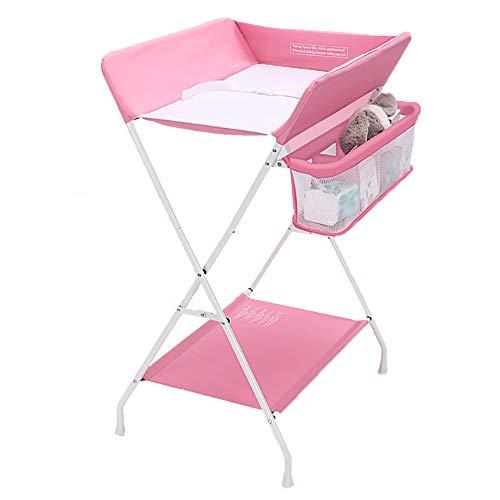Tables à langer À Langer pour Bébé Multifonction pour Bébé avec Table De Rangement, Rose