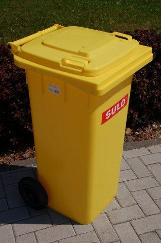 *Mülltonne Müllbehälter 120 l gelb*
