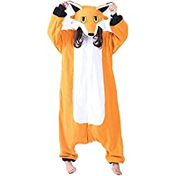 wotogold Pijama de Zorro Animal Trajes de Cosplay Adultos Unisex Orange