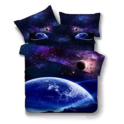 XYEQZ-Bettwäscheset Aus 4, Pflegeleichtem, Leichtem Polyester, 3D-Bettdeckenbezug,D,150×200 -