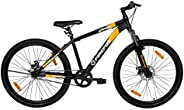 Firefox Bikes Grunge-D, 27.5T Mountain Cycle (Black/Orange) I Disc Brake I Ideal for : Adults (Above 13 Years)