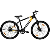"""Firefox Bikes Grunge-D, 27.5T Mountain Cycle (Black/Orange) I Disc Brake I Ideal for : Adults (Above 13 Years) I Frame Size: 17"""" I Unisex Cycle I First Free Service Available"""
