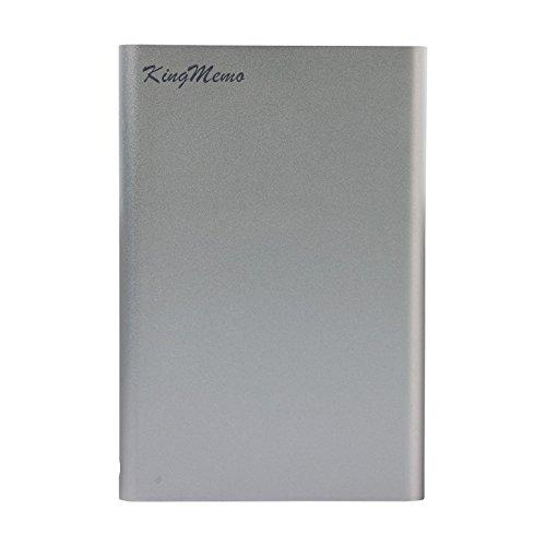 Kingmemo–2TB hard disk esterno portatile USB 2.0, per PC.USB2.0 Silver 2 TB