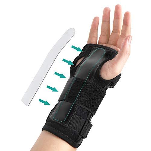 Handgelenkbandage Schiene Karpaltunnelsyndrom Schiene, Leicht Atmungsaktiv Handbandage Kompressionsband für Arthritis, Sehnenscheidenentzündung und die Stabilität Unterstützen, für linke rechte Hand