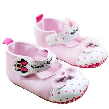 Baby Bucket Pre-Walker Shoes Light Weight Soft Sole Light pink Baby Girls Booties Shoes (0-6 Months)  available at amazon for Rs.360