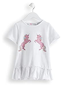 RED WAGON Girl's Unicorn T-Shirt,