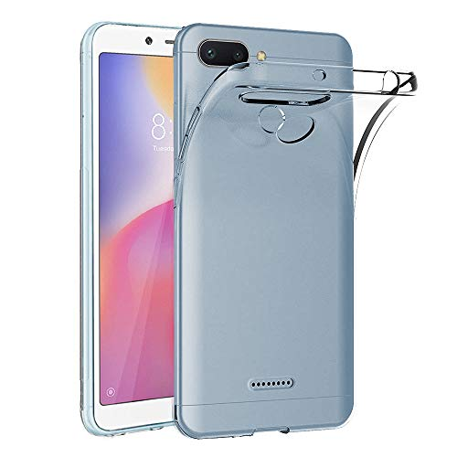 Ferilinso Hülle für Xiaomi Redmi 6/Xiaomi Redmi 6A, Ultra [Slim Thin] Kratzfestes TPU Gummi Weiche Haut Silikon Fall Schutzhülle für Xiaomi Redmi 6/Xiaomi Redmi 6A (Transparent)