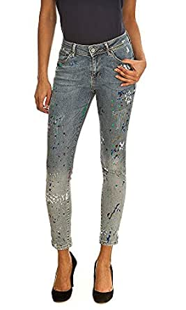 Jeans PITCH MID RISE 7/8 PAINT TEDDY SMITH W28 Femme