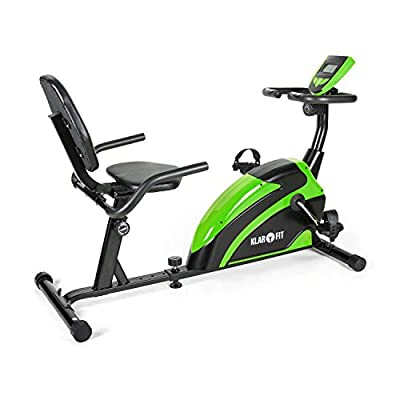 Klarfit Relaxbike 5G Recumbent Exercise Bike (10kg Max Load, Training Computer & 8 Levels of Resistance)