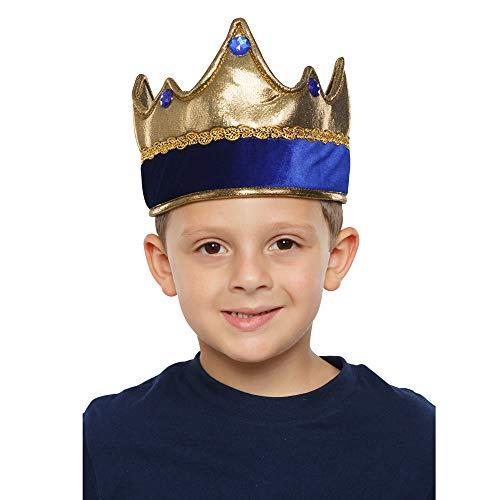 .0 Kids Shiny Exquisite Blue King Crown, unisex-child, Rot, Einheitsgröße ()