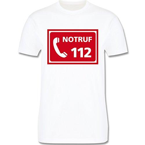 Feuerwehr - Feuerwehr - Notruf - Herren Premium T-Shirt Weiß
