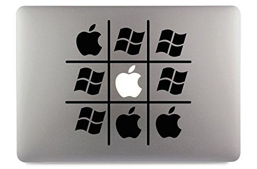 Tic Tac Toe Apple Windows Apple Macbook Air Pro Aufkleber Skin Decal Sticker Vinyl 11