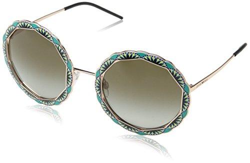 Emporio Armani Damen 0EA2054 31678E 55 Sonnenbrille, (Pink Gold/Green)