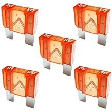 100 x Flachstecksicherung 1A 32V schwarz Flachsicherung Stecksicherung Sicherung