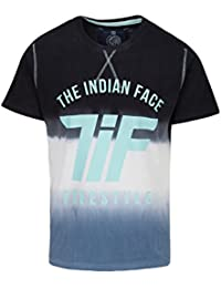 THE INDIAN FACE Camiseta Manga Corta Negro / Blanco / Azul M