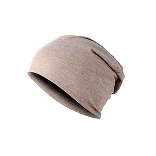 Bobury Cappello caldo degli uomini Cappello in sciarpa in cotone invernale con cappello liscio