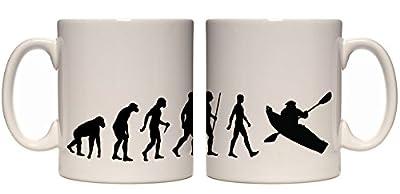 Juko Evolution ape to man kayak evolution mug from Jukoprint