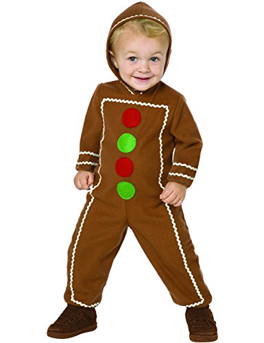 Kinder Wenig Gingerbread Mann Märchenbuch Woche Verkleidung Kostüm Medium