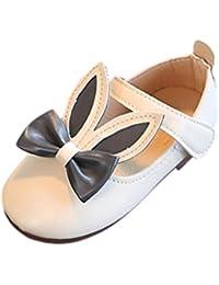 Malloom 1-7 Años Niña Bowknot Sandalias Sneaker Conejo Orejas Princesa Casual Single Zapatos