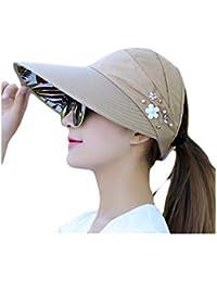 Cosanter Pieghevoli da Donna Estate Cappello Cappello da Baseball Femminile  Donne Anti UV Cappello Spiaggia Cappello 08ad38de6bbe
